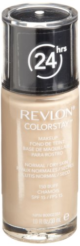Revlon ColorStay Makeup with SoftFlex, Normal/Dry Skin, 150  Buff ,SPF 15 / FPS15 , 1 Ounce (Pack of 2)