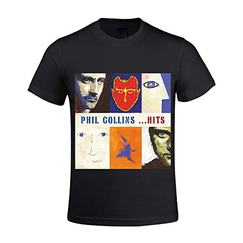 PHIL COLLINS Hits Men Shirts Crew Neck Casual Black