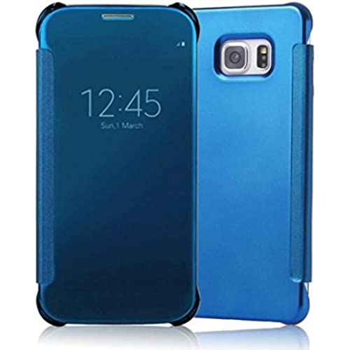Gravydeals S7 Elegant Leather Full Body protection Case,New Clear Smart View Window Mirror PC Hard Case Cover For Samsung Galaxy S7(Blue) Sales
