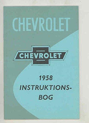 1958 Chevrolet ORIGINAL NOS Owner's Manual Denmark Export Danish Danish Export