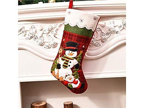 Decoraciones de Navidad Calcetines de Navidad de Copo de Nieve Bolso de Regalo de Bolsa de