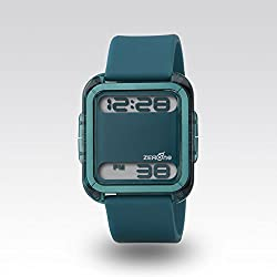 Zerone Bsquared 2 Ultra Slim Cyan Aluminum Bezel Digital Watch