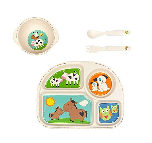 Tiny Footprint Farm Animals Dinner Set by Tiny Footprint