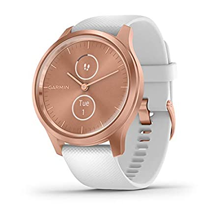 Garmin Vívomove 3 Classic - Reloj inteligente, color rose gold y blanco