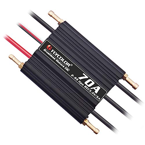Part & Accessories 1PC Flycolor 70A ESC 2-6S Lipo Waterproof Electronic Speed Controller w 5.5V/5A BEC T XT60 Plug for RC Boat Model Spare Parts - (Color: ESC)