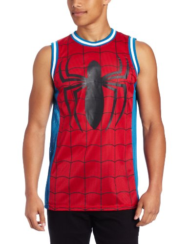 Spiderman Men's Marvel Parks Basketball Jersey Shirt