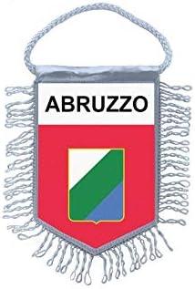 Akachafactory Fanion Mini Drapeau Pays Voiture Decoration abruzzes Abruzzo Italie