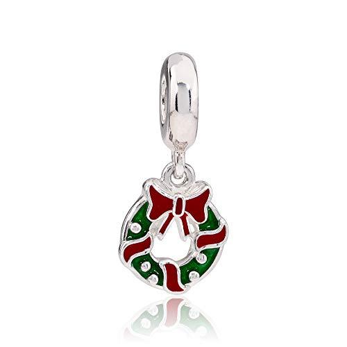 Pandora Boot - Pandora Multicolor Holiday Wreath Dangle Charm 796362ENMX
