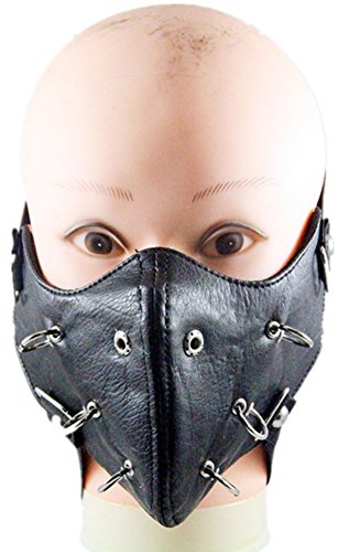 Qiu ping Men's and women's fashion show rivets rock mask personality motorcycle mask by Qiu ping