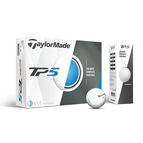TaylorMade 2017 TP5 Golf Balls, Pack of 12 (Construction Golf Ball)