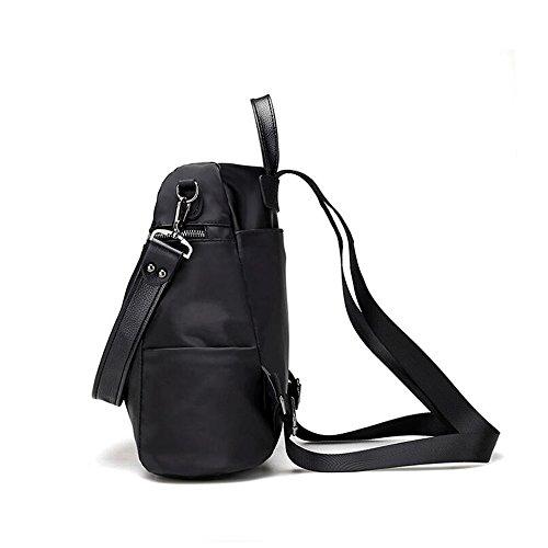 0b277b51f7ba5 ... JUNBOSI Rucksack Female College Wind Mode Rucksack einzigen Rucksack  große Kapazität Reisetasche Student Bag Black Red ...