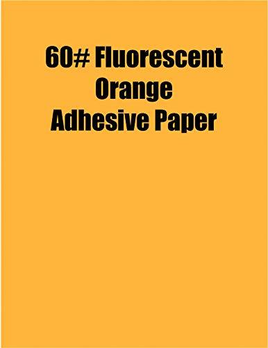 Spinnaker Coating Fluorescent Orange 60# Adhesive Paper, Strip-Tac Plus, Removable, 17 x 22, 500 Sheets per Carton ()