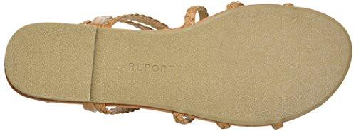 Report Women's gibbie Flat Sandal Tan 2VYNTvYTo
