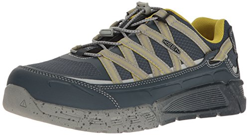 Keen Utility Mens Asheville Alloy Toe ESD Industrial and Construction Shoe, Midnight Navy/Warm Olive, 14 2E US