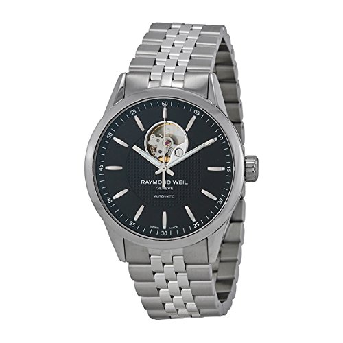 Raymond Weil Men's 'Freelancer' Swiss Automatic Stainless Steel Dress Watch, Color:Silver-Toned (Model: 2710-ST-20021) - Raymond Weil Sapphire Wrist Watch
