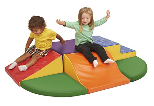 ECR4KidECR4Kids Softzone Speed Bumps and Slide Play Climber, Primary by ECR4Kids