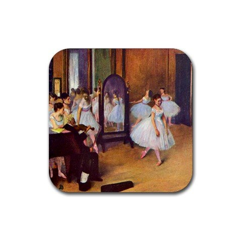 The Dance Hall By Edgar Degas Square Coasters - Set of 4
