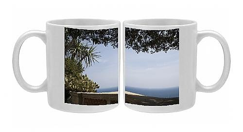 Photo Mug of View from the Exotic Garden, Monaco, Cote d Azur, Mediterranean, Europe - Monaco Exotic Gardens