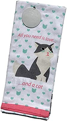 All You Need is Love and A Cat Kitchen Towels Kitcchen Towels