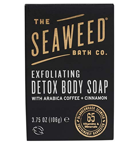 The Seaweed Bath Co. Exfoliating Detox Body Soap, Unscented, Natural Organic Seaweed, Coconut Oil, Vegan, Paraben Free, 3.75 oz. (Best Detox For Cellulite)