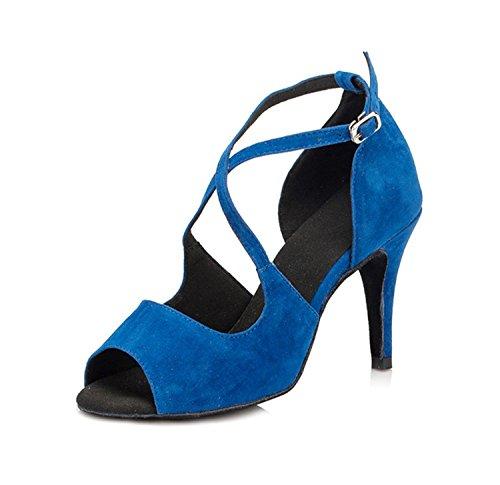 8 Blue Miyoopark de bal 5cm femme heel Salle wWvPvxqr1
