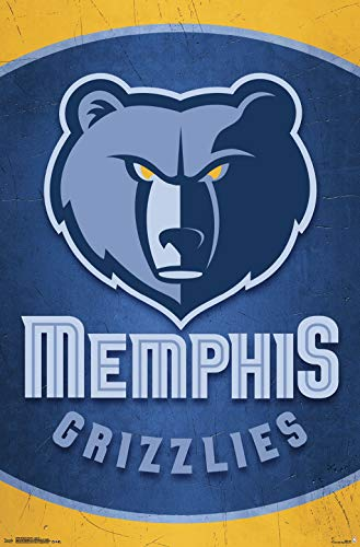 (Trends International Memphis Grizzlies-Logo 14 Mount Bundle Wall Poster, 22.375