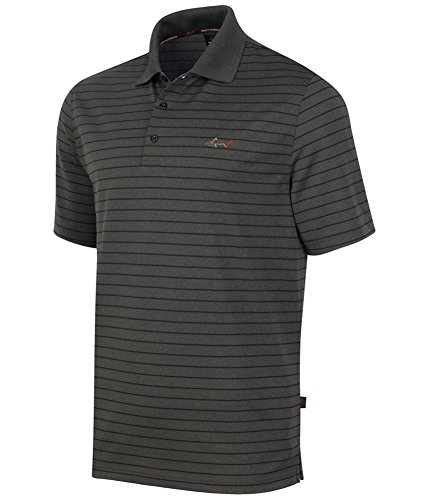 Greg Norman Mens 5 Iron Performance Rugby Polo Shirt dkleadheather S