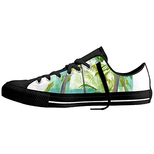 You Tube Christmas Shoes (Palm Trees Low-Cut Canvas Shoes Unisex Sneaker-All Season Casual Trainers For Men And Women ColourName Sizekey)