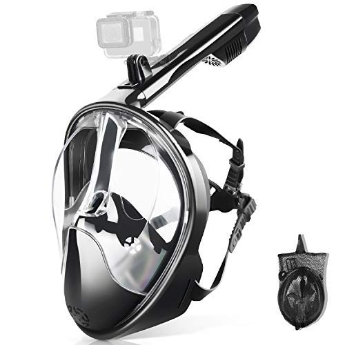 ZIPOUTE Snorkel Mask Full Face, Full Face