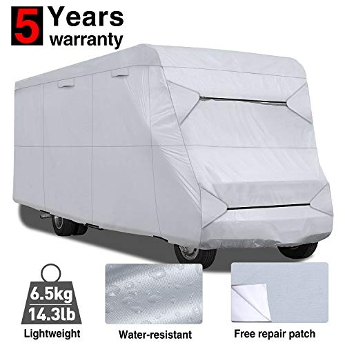 RVMasking RV Class C Cover 23'-26' L with Free Adhesive Repair Patch, Lightweight & Waterproof Camper Cover