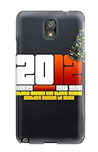 Flexible Tpu Back Case Cover For Galaxy Note 3 - Happy 2012 New Year