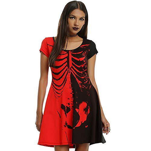 Clearance Sale!Toimoth Sexy Women Halloween Ladies Slim Bodycon Club Party Cocktail Mini Dresses (Red,S)