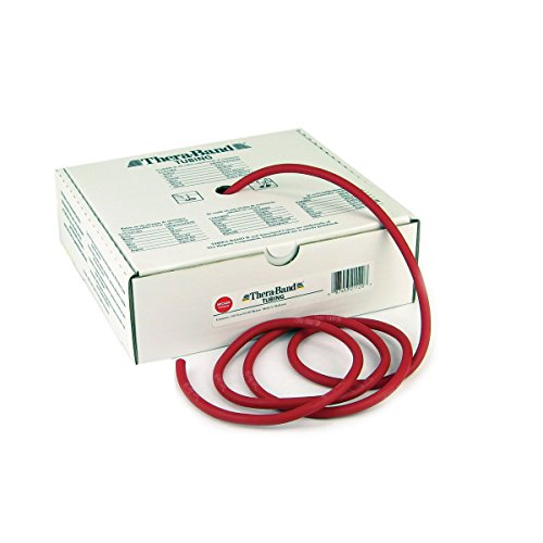 Thera-Band Tubing Medium, Color: Red 100 ft