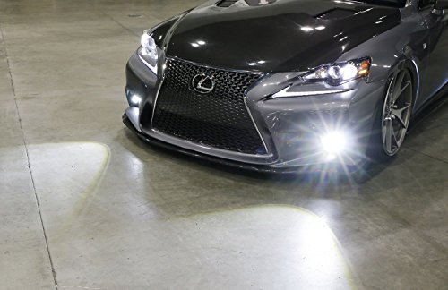iJDMTOY Lexus F-Sport 15W High Power Projector LED Fog Light Kit For 2014-2016 Lexus IS200t IS250 IS300 IS350, 6000K Xenon White by iJDMTOY (Image #7)