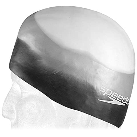 Speedo Silicone Composite Swim Cap, Black