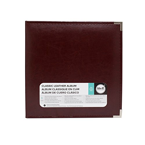 - We R Memory Keepers Faux Leather 3-Ring Album -  8.5 x 11 inch, Cinnamon