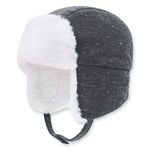 Keepersheep Baby Boy Ushanka Earflap Winter Trooper Hat Cap, Kids Trapper Hat (Grey, 3-6 Months)