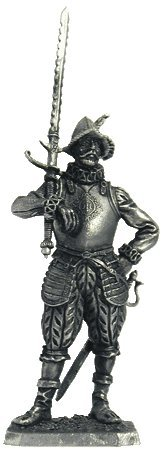 16th Century Swords - European soldier with a sword (16th century) Tin Toy Soldiers Metal Sculpture Miniature Figure Collection 54mm (scale 1/32) (M107)