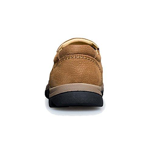 Genuino en Mocasines Marrón Grandes TRULAND Zapatos para Cuero sin Hombre Cordones Tallas 0w74RFU