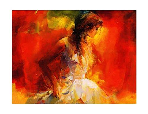 Splash Art The Girl's Side Face (20 x
