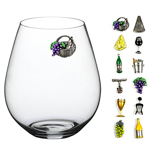 Painted Wine Glass Charms - 1