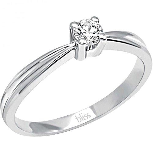 Solitaire Bliss Athena 20069847or blanc diamant
