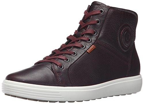 Ecco Footwear Womens Soft 7 High Top Fashion Sneaker, Bordeaux, 39 EU/8-8.5 M - Top High Footwear