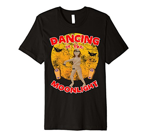 Mummy Dance Costume (Mens Mummy Costume Halloween T Shirt Dancing In Moonlight 2XL Black)