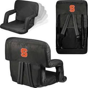 NCAA Syracuse Orange Ventura Portable Reclining Seat - Orange Collegiate Stadium Seat