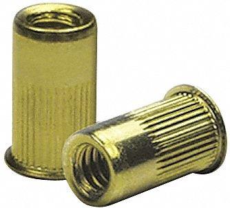 Steel Knurled Flanged Rivet Nut 0.805