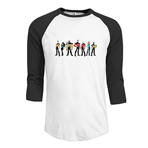 Half Sleeve Men Summer T-shirts With Star (Star Trek Communicator Keychain)