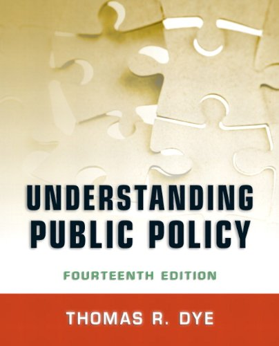 Understanding Public Policy, 14th Edition Front Cover