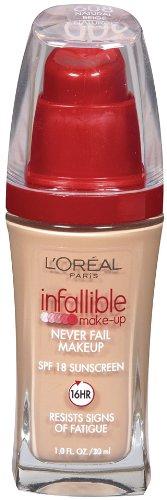Loreal Pro Manicure - L'Oreal Paris Infallible Advanced Never Fail Makeup, Natural Beige, 1.0 Ounces
