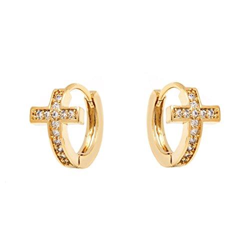 Crystal Cross Earrings Swarovski Elements